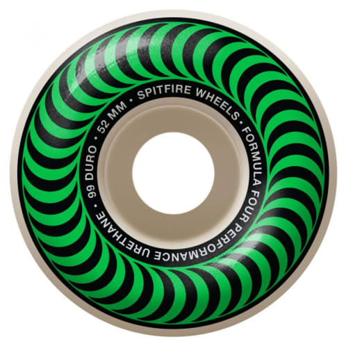 Spitfire Formula Four Classic Wheels Green 99DU 52mm