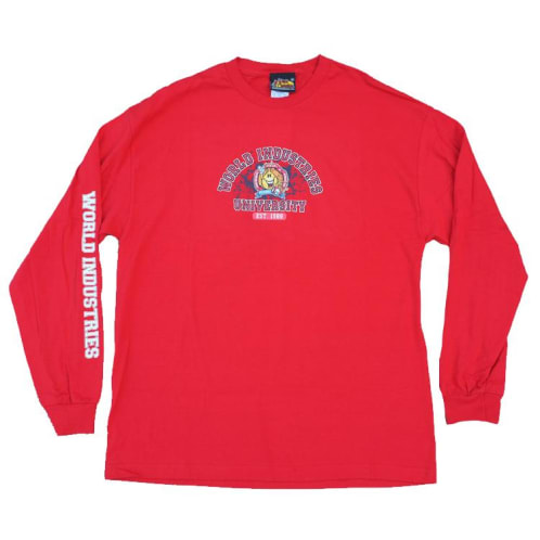 World Industries Flame Boy University Long Sleeve - Red