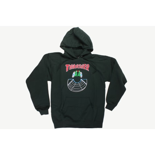 Thrasher Hooded Sweatshirt Doubles Forest Green