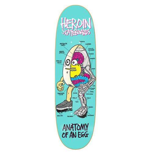 Heroin Skateboards Anatomy of an Egg Skateboard Deck - 9.4