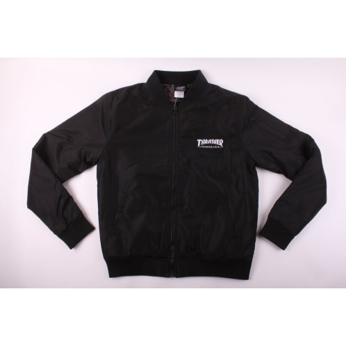 Thrasher Bomber Jacket Lined Black
