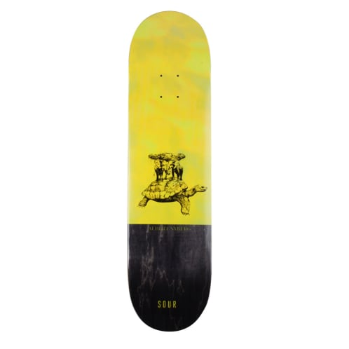 Sour Skateboards - Sour Solution Albert Sour Turtle Skateboard Deck | 8.25""