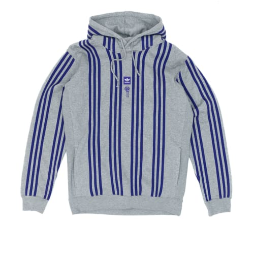 Adidas x Hardies Hooded Sweatshirt - Core Heather/Collegiate Purple