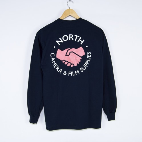 North Skate Mag - North Supplies Logo Longsleeve T-Shirt - Navy / Peach / White
