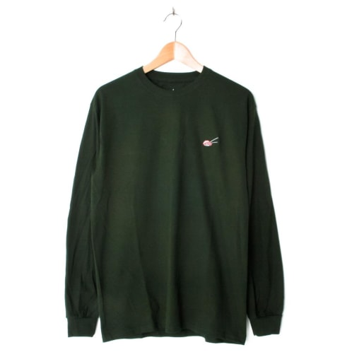 Evisen Tuna Sushi Embroidered Longsleeve Forest Green