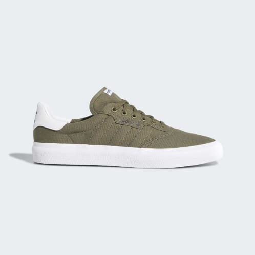 Adidas 3MC Vulc Shoes - Raw Khaki/Raw Khaki/FTWR White