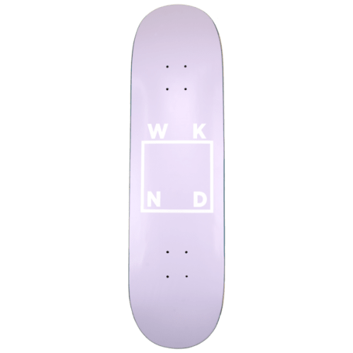 "WKND - Lavender Logo Board Skateboard Deck - 7.75""   8.25""   8.5"""