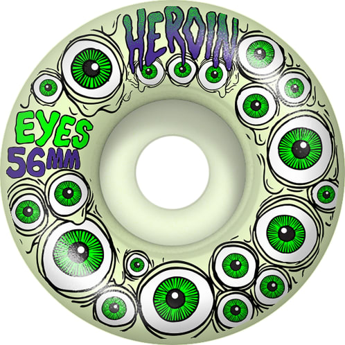 Heroin Skateboards Wheels Eyes - 56mm