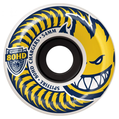 Spitfire Soft Wheels 80HD Charger Conical White/Yellow 56mm