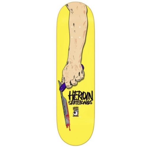 Heroin Skateboards Razortop Skateboard Deck Yellow 8.5""