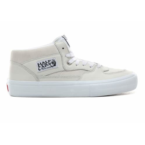 Vans Leather Half Cab Pro Skate Shoes - White