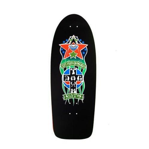 Dogtown Skateboards Triplane Re-Issue Skateboard Deck 11.00 - Black Yorkite