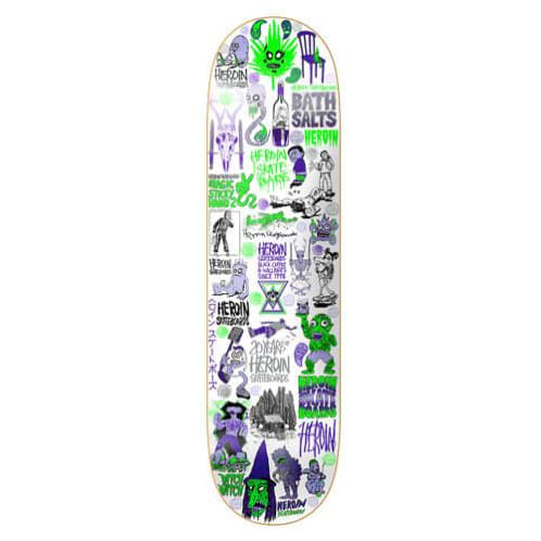 "Heroin Skateboards - 8.5"" 20 Years Part IV Skateboard Deck"