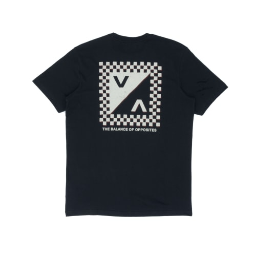 RVCA Check Mate T-Shirt - Faded Black