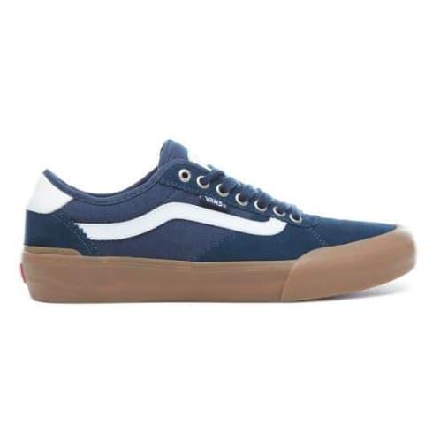 Vans Chima Pro 2 Skateboarding Shoes - Navy/Gum/White