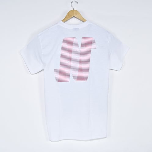 North Skate Mag - North N Logo T-Shirt - White / Peach