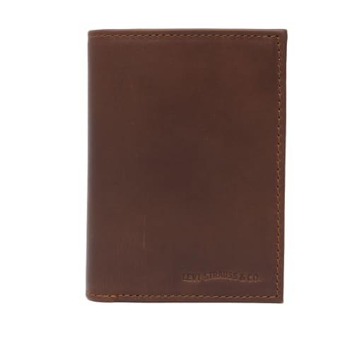 Levis Knoll Coin Bi-Fold Wallet - Dark Brown