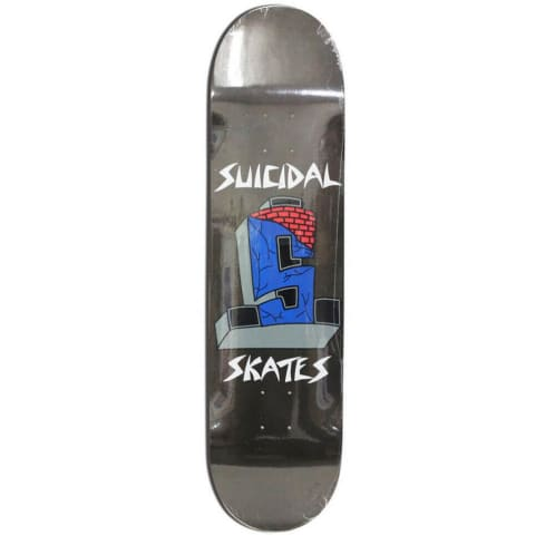 Dogtown Skateboards Suicidal Skates Logo Deck 8.25 - Black Flake