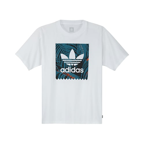 Adidas BB Print 2 T-Shirt - White/Teal/Orange
