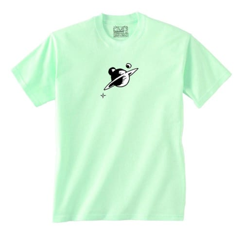 """Lovenskate """"Don't Worry Gordo, The Universe Will Get Us There"""" T-Shirt - Mint Green"""