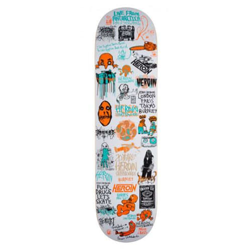"Heroin Skateboards - 8.125"" 20 Year Part II Deck"