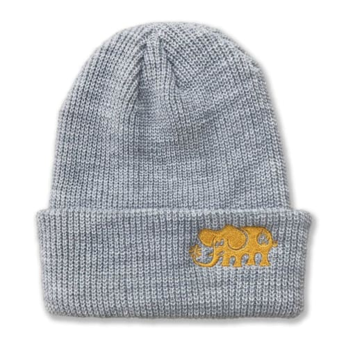 Black Label Skates Beanie - Grey/Gold