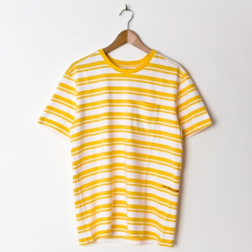 Pop Trading Company Striped Pocket Yellow