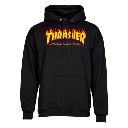 Thrasher Flame Hooded Sweatshirt - Black
