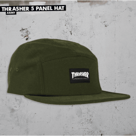 Thrasher - 5 Panel Cap - Army