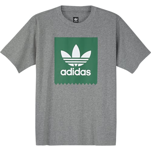Adidas Solid BB Tee - Core heather/bold green