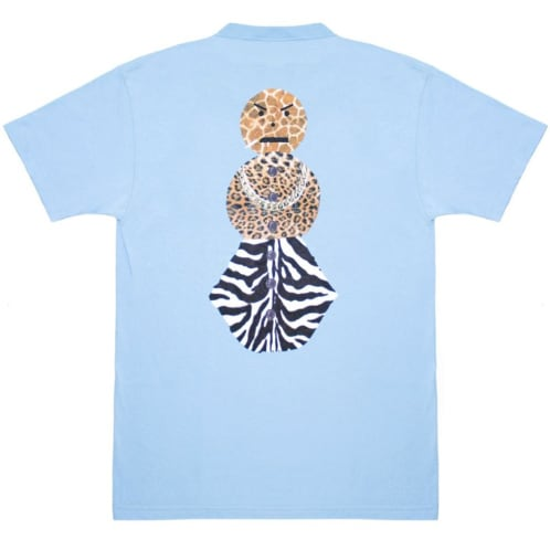 Quartersnacks Safari Snackman Charity T-Shirt Carolina Blue