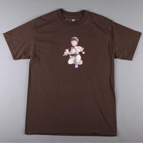 CSC 'Pussy & Skateboarding' T-Shirt (Brown)