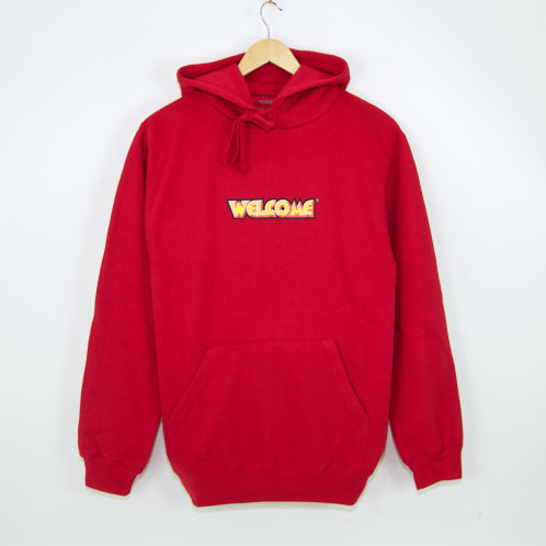 Welcome Skate Store - Fantasy Pullover Hooded Sweatshirt - Red