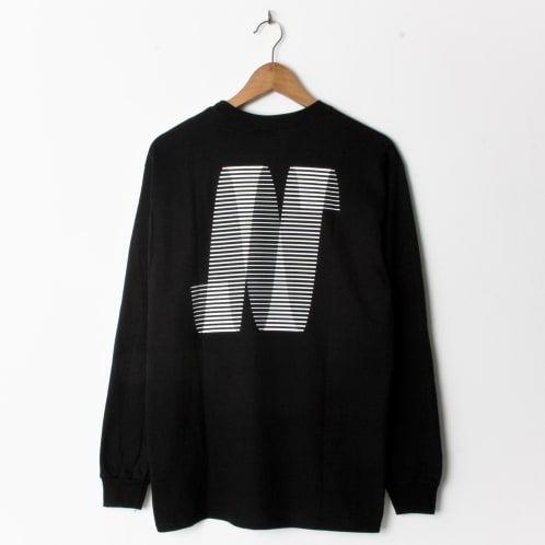 North Magazine N Logo Longsleeve Black
