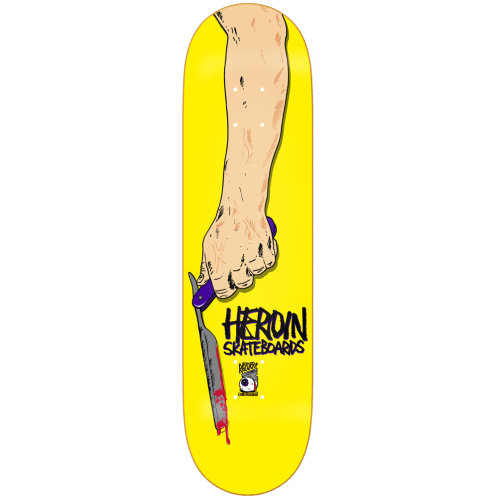 Heroin Skateboards Razortop Skateboard Deck 8.5""