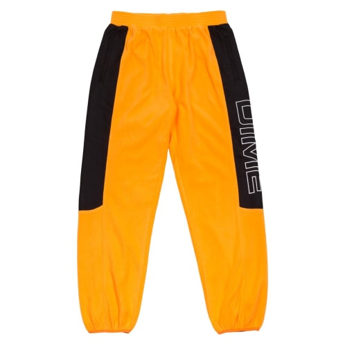 Dime Polar Fleece Track Pant - Gold/Black