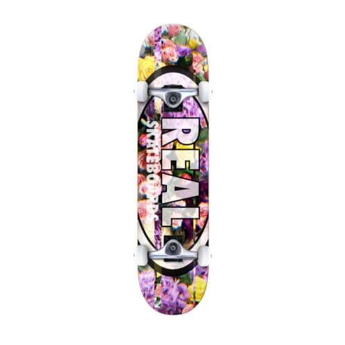 "Real Skateboards - 8.25"" Oval Glitch Complete Skateboard"