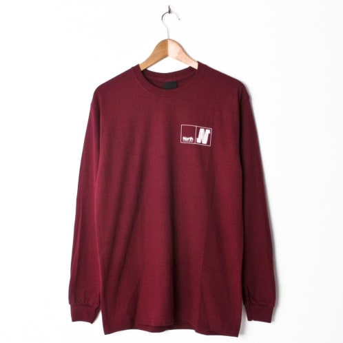 North N Logo Longsleeve Burgundy