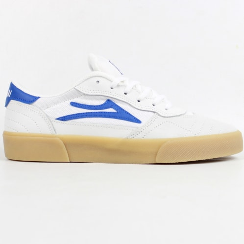 Lakai Cambridge Shoe White/Blue Suede