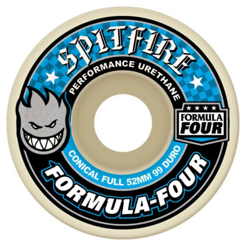 Spitfire Formula Four Conical Full Skateboard Wheels Natural 99DU 56mm