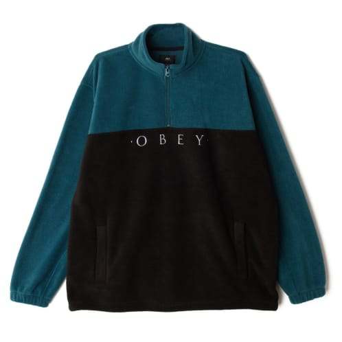 Obey Channel Mock Neck - Black