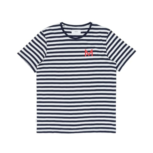 Makia Shore T-Shirt - Navy/White