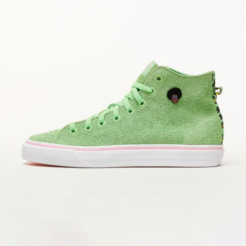adidas Nizza Hi RF Skateboard Shoes - Spring Green/Cloud White/Light Pink