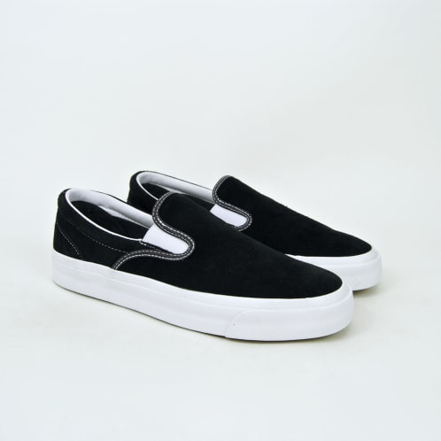 Converse Cons - One Star CC Slip On Shoes - Black / White / White