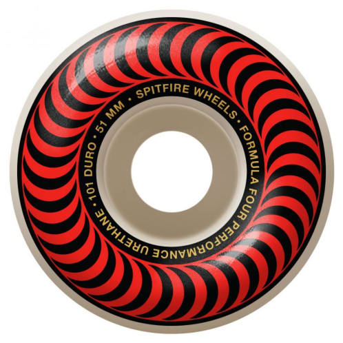 Spitfire Wheels - Spitfire Formula Four Classic 99 Red Skateboard Wheels | 51mm