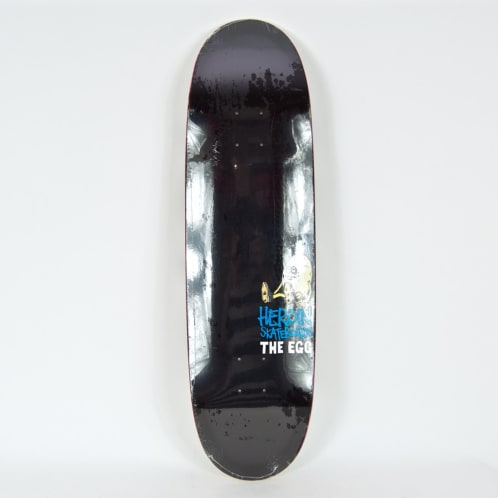 "Heroin Skateboards - 8.5"" Black Summer OG Egg Deck"