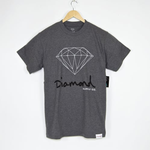 Diamond Supply Co. - OG Sign Core T-Shirt - Heather Grey