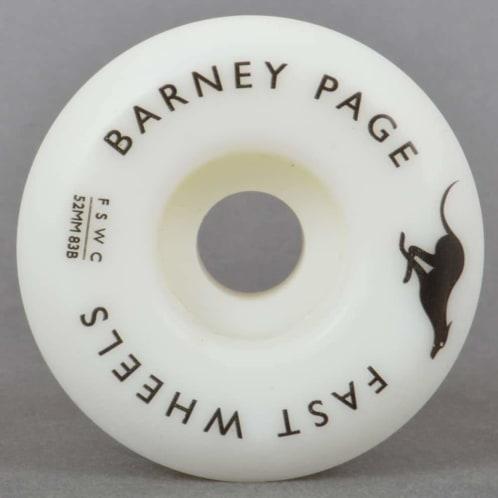 Fast Wheels - Fast Skate Wheel Co Barney Page Pro Skateboard Wheels | 52mm