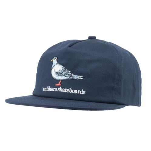 Anti Hero Skateboards - Pigeon Snapback Cap - Navy / White