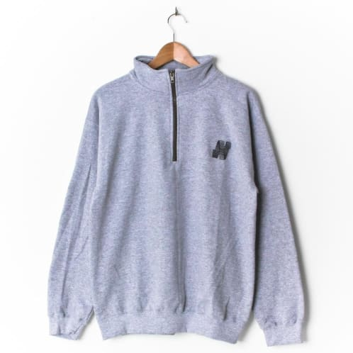 North N Logo 1/4 Zip Heather